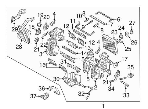Evaporator & Heater Components for 2017 Hyundai Elantra