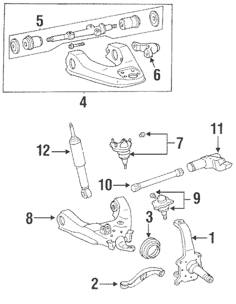 Genuine OEM Suspension Components Parts for 1994 Toyota