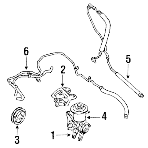 Genuine OEM PUMP & HOSES Parts for 1988 Toyota Camry LE