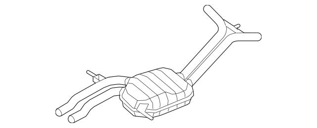 2008-2010 Audi A5 Quattro Intermediate Pipe 8T0-253-409-AC