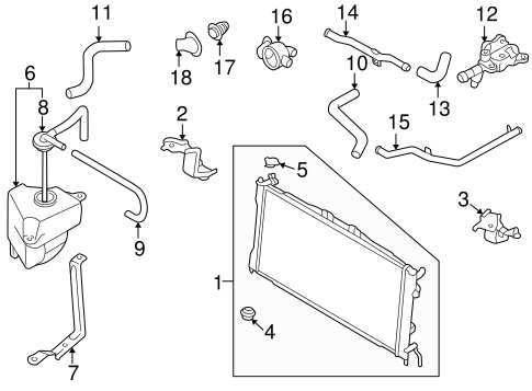 RADIATOR & COMPONENTS for 1998 Mazda 626