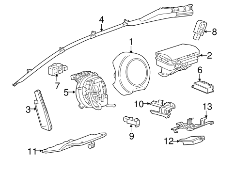 OEM Air Bag Components for 2010 Chevrolet Camaro