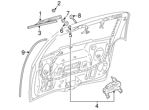 OEM WIPER & WASHER COMPONENTS for 2005 Buick Terraza