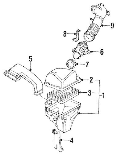 Air Intake for 1994 Mazda 929