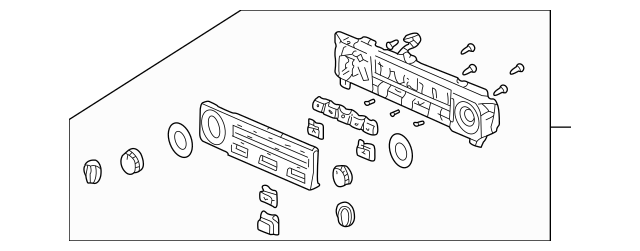 1998-2000 Honda Control Assembly, Auto Air Conditioner