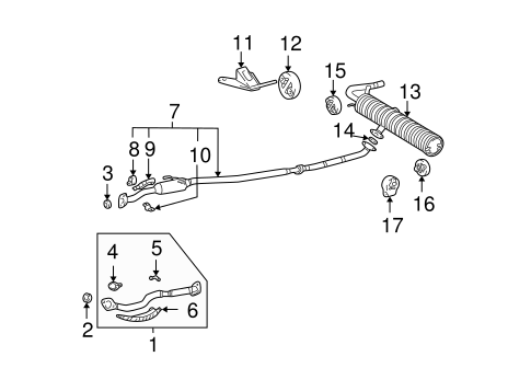 toyota rav4 exhaust system diagram attic fan thermostat wiring genuine oem components parts for 2002 base