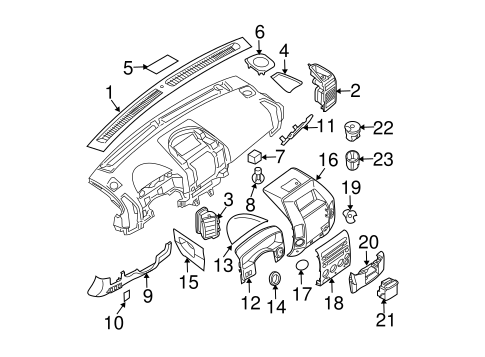 INSTRUMENT PANEL COMPONENTS for 2004 Nissan Titan
