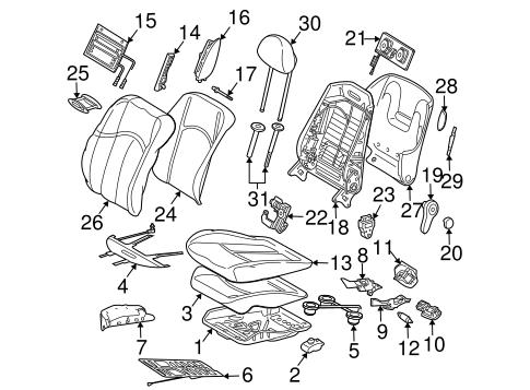 Air Bag Components for 2007 Mercedes-Benz CLS 550