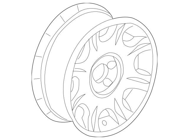 Genuine OEM 2007-2012 Mopar Wheel, Alloy 1DP88SZ0AB