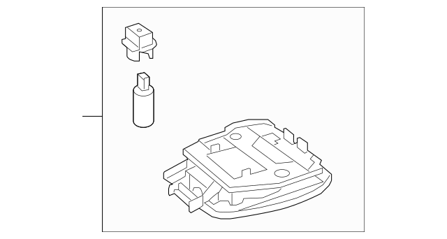 Genuine Mercedes-Benz Map Lamp Assembly 212-900-10-23-8R73