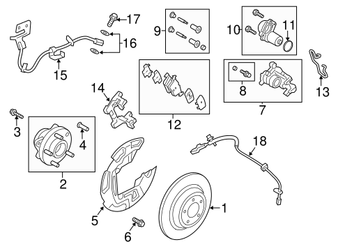 Rear Brakes for 2015 Ford Fusion