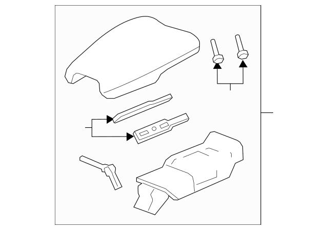 2016-2017 Honda HR-V 5-DOOR Armrest Assembly, Console