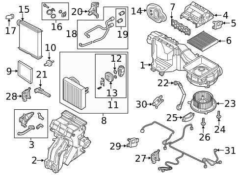 Evaporator & Heater Components for 2013 Volkswagen Jetta