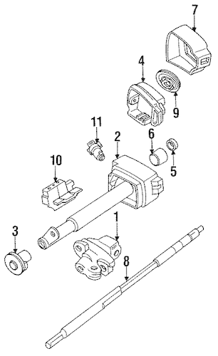 OEM STEERING COLUMN ASSEMBLY for 1989 Chevrolet Corsica
