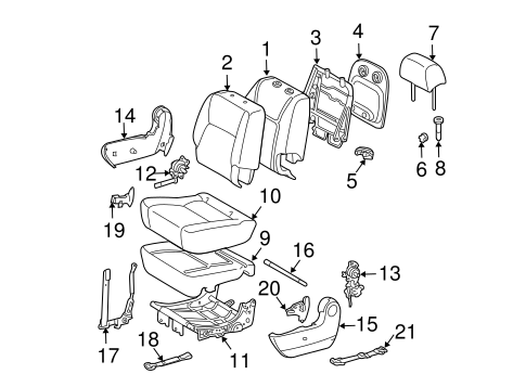 Genuine OEM REAR SEAT COMPONENTS Parts for 2006 Toyota