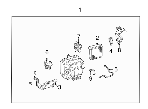 Evaporator & Heater Components for 2005 Toyota Camry
