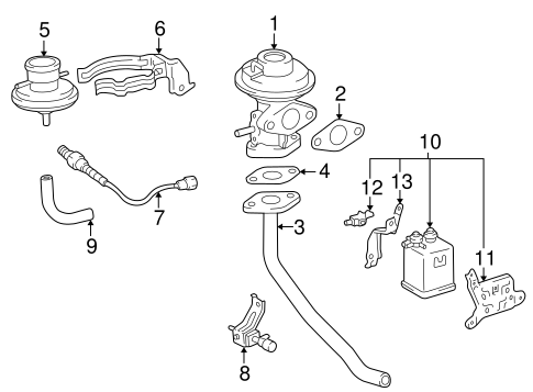 Genuine OEM EGR SYSTEM Parts for 1998 Toyota Camry LE