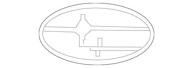 2006-2014 Subaru Ornament Emblem / Oval Subaru 93013XA002