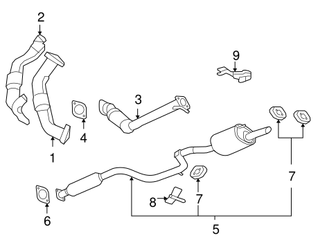 EXHAUST COMPONENTS for 2007 Chevrolet Impala (LT)