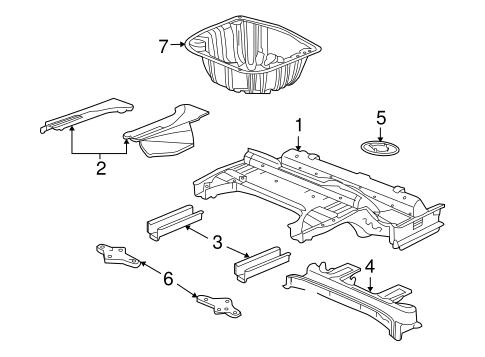 OEM 2009 Pontiac G8 Rear Floor & Rails Parts