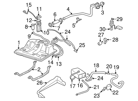 OEM Fuel System Components for 2001 Chevrolet Monte Carlo
