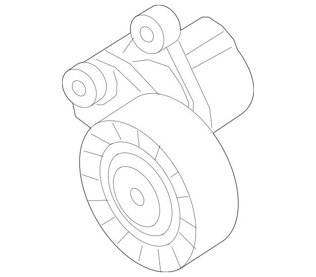 2016-2018 Volkswagen Jetta Belt Tensioner 04E-145-299-N