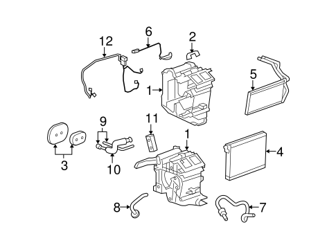 Evaporator & Heater Components for 2011 Cadillac STS