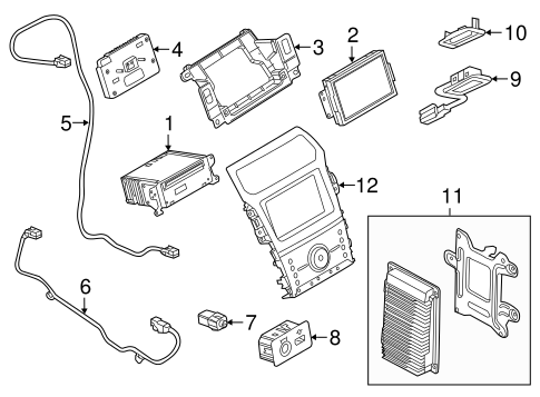 8L8Z-19A164-A Auxiliary Outlet for 2013 Ford Explorer