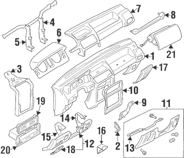 1994-2000 Mitsubishi Montero Speaker Grille MR714119
