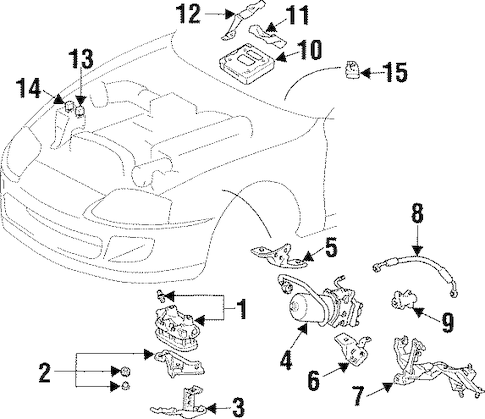 Genuine OEM Traction Control Components Parts for 1993