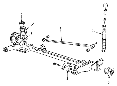 OEM 1985 Chevrolet Citation II Rear Axle Parts