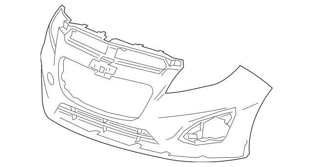 2013-2015 Chevrolet Spark Bumper Cover 95141821