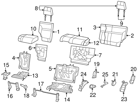 Rear Seat Components for 2008 Jeep Liberty Parts