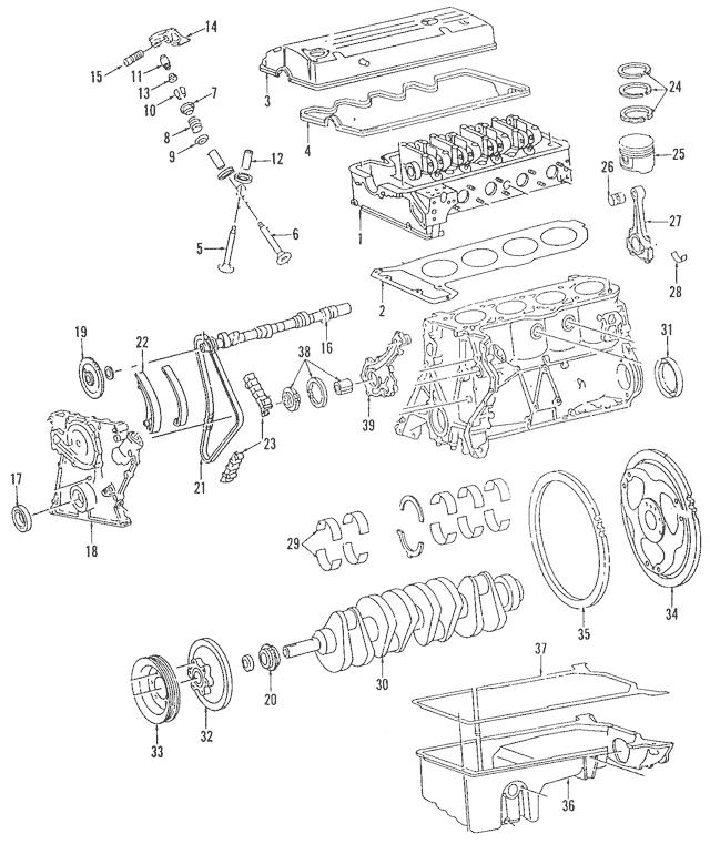 1991-1993 Mercedes-Benz 190 E Head Gasket 102-016-24-20