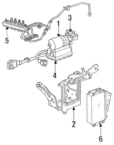 ABS Components for 1996 Ford Thunderbird