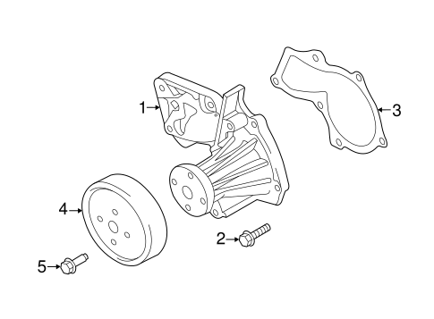 WATER PUMP for 2013 Ford Fusion