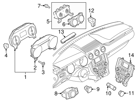 OEM 2016 Ford Mustang Instruments & Gauges Parts