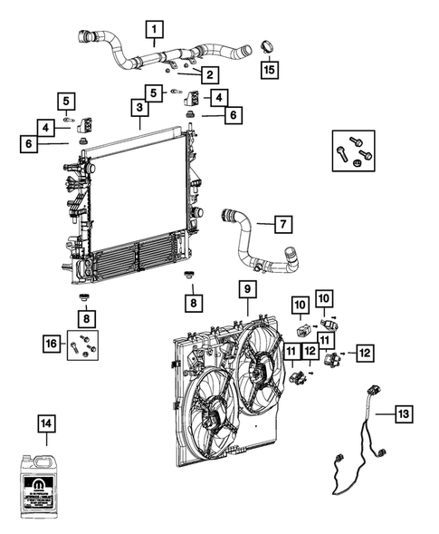 Radiator and Related Parts; Charge Air Cooler for 2019 Ram