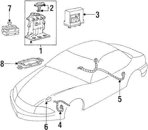 ANTI-LOCK BRAKES for 1998 Oldsmobile Cutlass