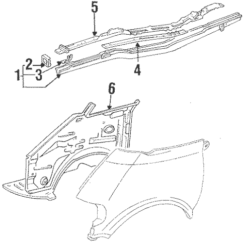 Structural Components & Rails for 1993 Toyota Previa