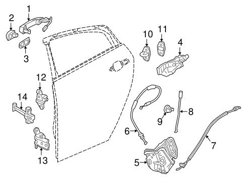 OEM 2017 Chevrolet Volt Lock & Hardware Parts