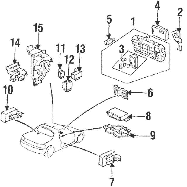 Genuine 1996-2000 Honda Control Unit, Integrated 38600-S01
