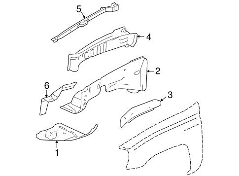 Inner Components for 2007 Chevrolet Trailblazer