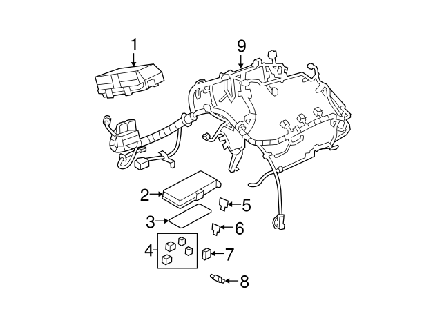 Chevy Malibu Engine fuse box COVER 20822689 Auto Parts and