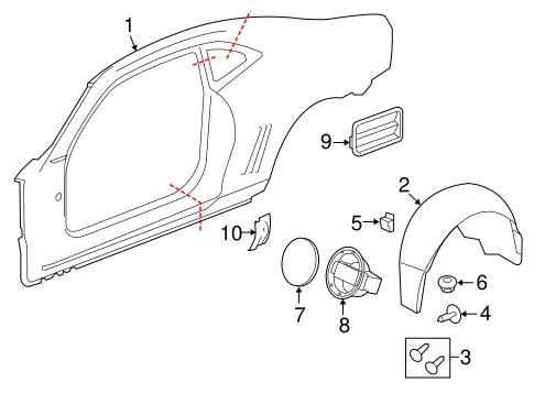 OEM 2013 Chevrolet Camaro Quarter Panel & Components Parts