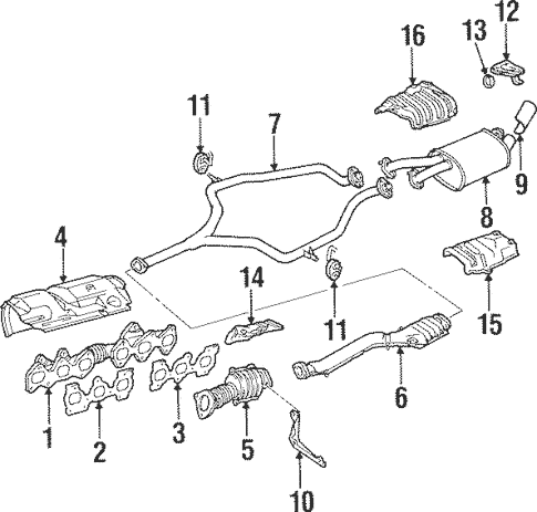 Genuine OEM Exhaust Manifold Parts for 1994 Toyota Supra