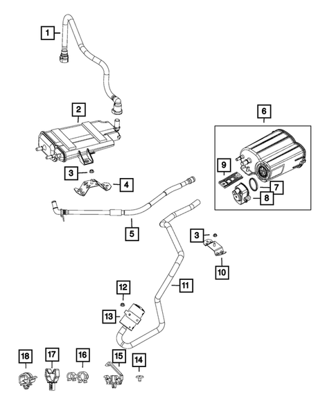 Vacuum Canister/Leak Detection Pump for 2013 Fiat 500