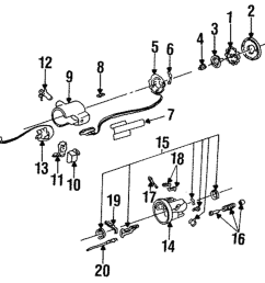 oem steering column turn signal switch actuator buick chevrolet gmc oldsmobile main image part can be found as 6 in the diagram above [ 1000 x 985 Pixel ]