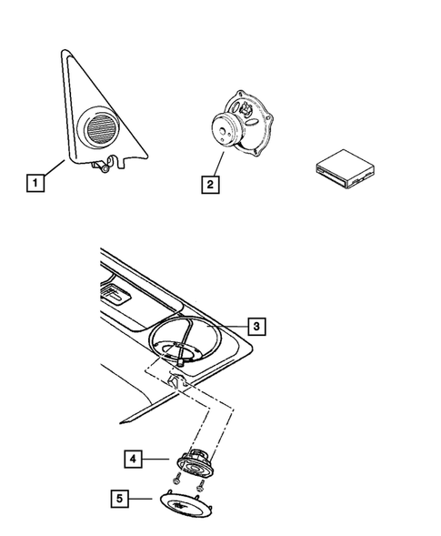 Radio, Antenna, and Speakers for 2001 Jeep Cherokee
