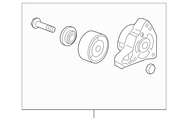 Original Tensioner Assembly, Auto for 2007-2015 Acura